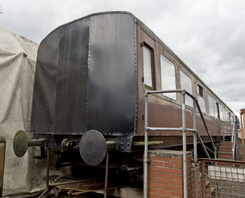 GWR 2233 Hawksworth BTK, now overnight accommodation built 1950