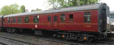 BR 21254 Mk 1 Brake Corridor Composite built 1963