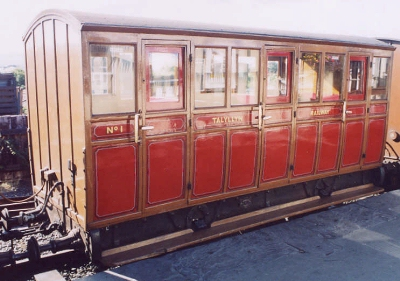 Talyllyn 1 3-compartment Four-wheel First (now Third) built 1866