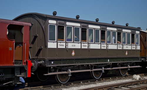 MSLR 1075 Six-wheel 5 Compartment Third - built for MSJAR built 1890